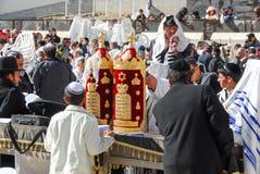 在西部墙壁,耶路撒冷的成人仪式 免版税库存图片