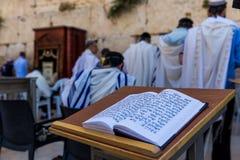 在西部墙壁,耶路撒冷的祷告 免版税图库摄影
