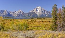 在西部山的秋天颜色 免版税图库摄影