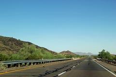 在西部得克萨斯打开高速公路 库存照片