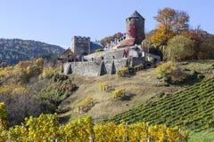 在西部施蒂里亚藤路线的城堡Deutschlandsberg 库存照片