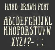 在西部样式的大胆的手拉的字体 免版税图库摄影
