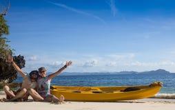在西部法国制片人盐水湖结合乘独木舟 库存图片