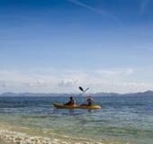 在西部法国制片人盐水湖结合乘独木舟 图库摄影