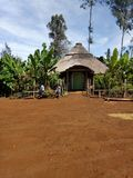 在西部高地PNG的Manhouse 免版税库存图片