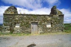 在西部黄柏,爱尔兰的一个离开的石村庄 图库摄影