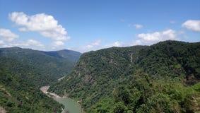 在西部ghats印度的美丽的山 免版税图库摄影