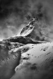 在西部Tatra山的剧烈的天空 Rohac峰顶 免版税库存照片