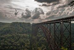 在西部Virgina的桥梁 库存图片