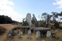 在西隆,梅加拉亚邦附近的常设石头 库存图片