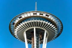 在西雅图特写镜头视图的空间针 库存图片