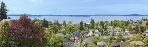 在西雅图西方视图的wa的neighboorhood 库存图片