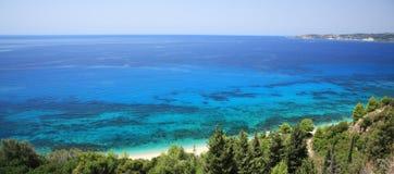 在视图的海湾lourdas 免版税库存图片