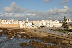 在视图的空中essaouria摩洛哥 免版税库存图片
