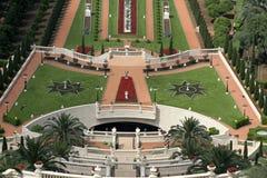 在视图的bahai庭院 免版税库存图片