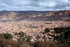在视图的cusco 免版税库存图片
