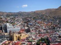 在视图的guanajuato 免版税库存照片
