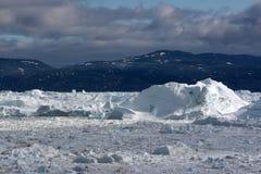 在视图附近的icefjord ilulissat 图库摄影