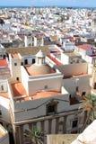在视域的安大路西亚卡迪士大教堂 库存照片