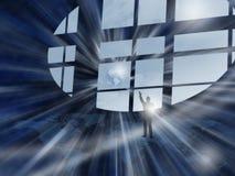 在视窗世界 免版税图库摄影