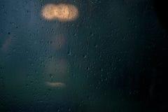在视窗的雨 免版税库存图片