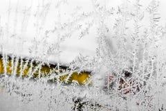 在视窗的霜 免版税图库摄影