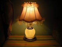 在角落的灯 免版税库存照片
