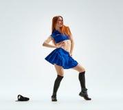 在警察制服的舞蹈 免版税库存照片