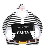 在警察局的面部照片圣诞老人 快照圣诞节 Ar 免版税库存图片