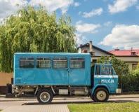 在警察版本的经典波兰卡车星 免版税库存照片