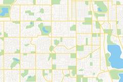 在计划的街道-城市 库存图片