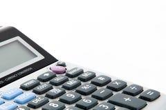 在计算器的键盘 免版税库存图片