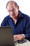 在计算机上的东印度人人 免版税图库摄影