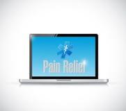 在计算机上的镇痛医疗标志 皇族释放例证