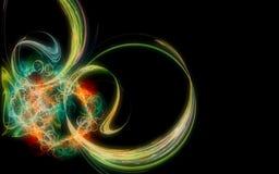 在计算机包括的美好的抽象几何形状引起的数字图象,不同颜色线a的 库存例证