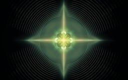 在计算机包括的美好的抽象几何形状引起的数字图象,不同颜色线a的 库存照片