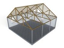 木屋项目 向量例证