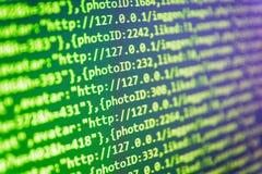 在计算机显示器的网站代码 IT Business Company 向量例证