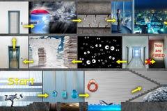 在计算机游戏的商人 库存照片