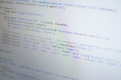 在计算机的PHP CSS代码 免版税库存图片
