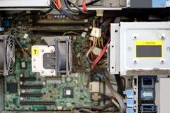 在计算机里面的尘土 免版税库存图片
