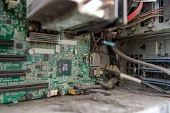 在计算机里面的尘土 库存照片