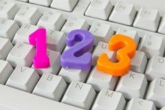 在计算机键盘的三个编号 免版税库存照片