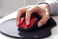 在计算机鼠标的现有量 免版税库存照片