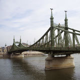 桥梁在布达佩斯 库存照片