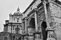 在论坛,罗马,意大利的废墟 库存图片