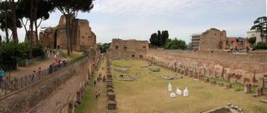 在论坛Romanum的表现癖在罗马 免版税库存照片
