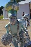 在设计卡通者的角色剧院漫步的玩偶先生的演员 Pejo 免版税库存图片