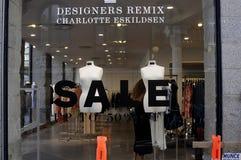 50%在设计师RMIX夏洛特ESKILDSEN的销售 免版税库存照片