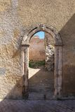 在设防,杰迪代,摩洛哥的门 免版税库存照片